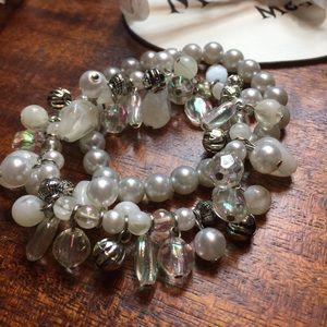 Jewelry - Pearl & Chrystal Bracelet Bundle